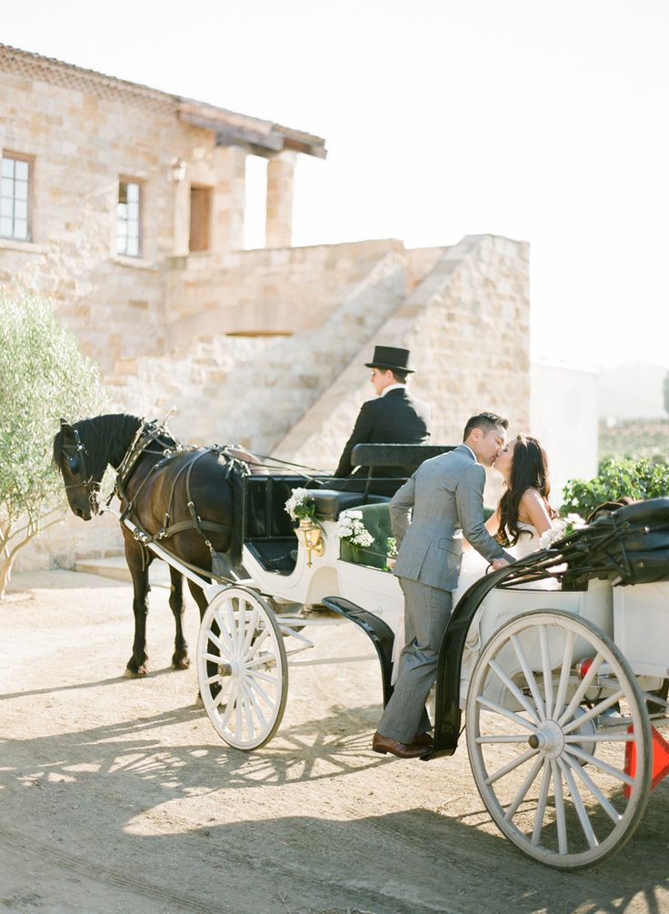 Horse Drawn Carriage Wedding Getaway
