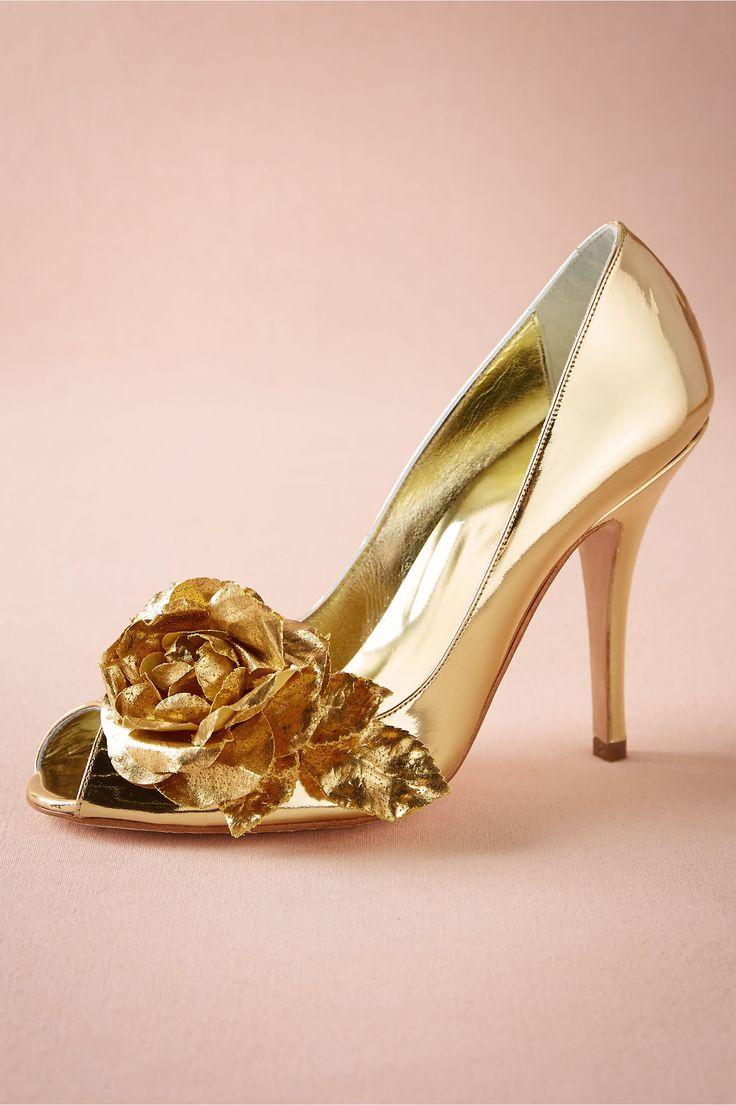 Golden Rose Pumps