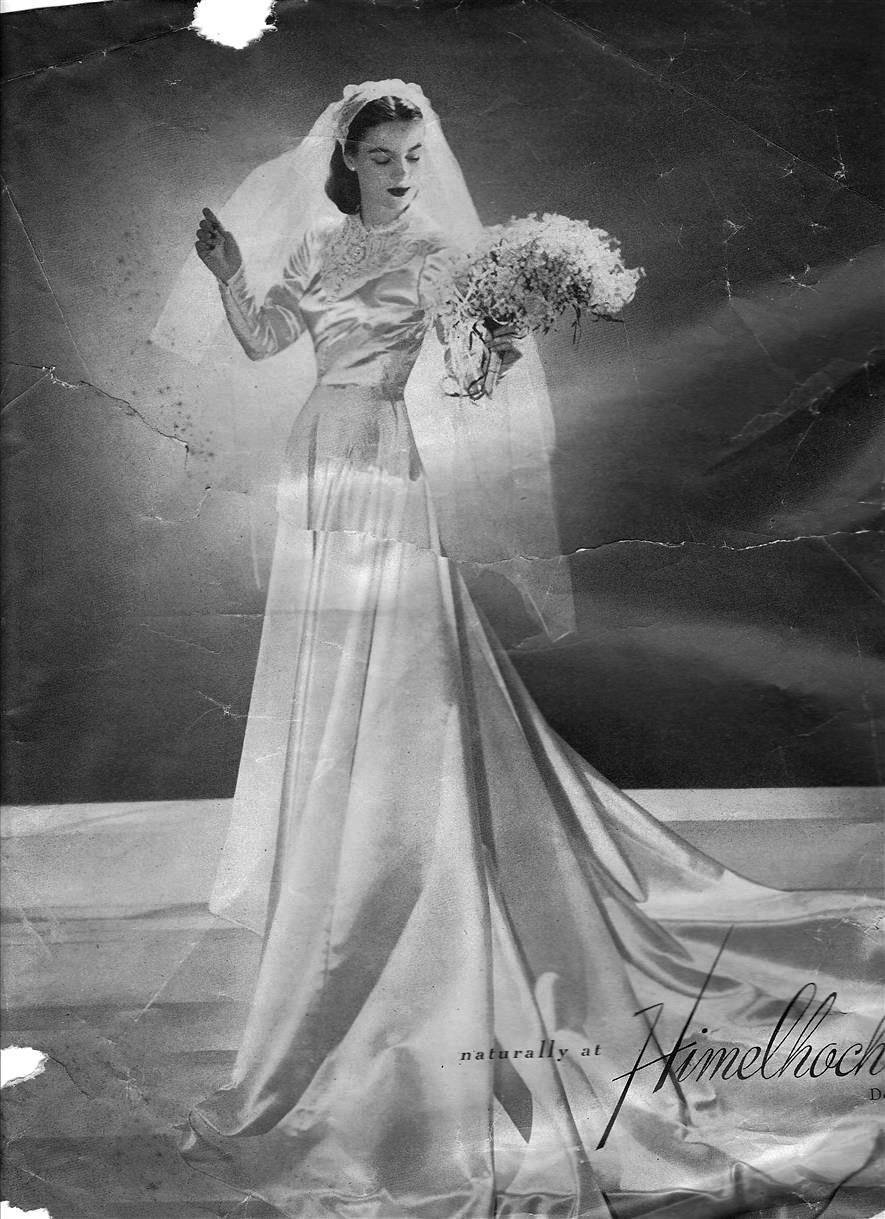 Chic Vintage 1940s Wedding Dress
