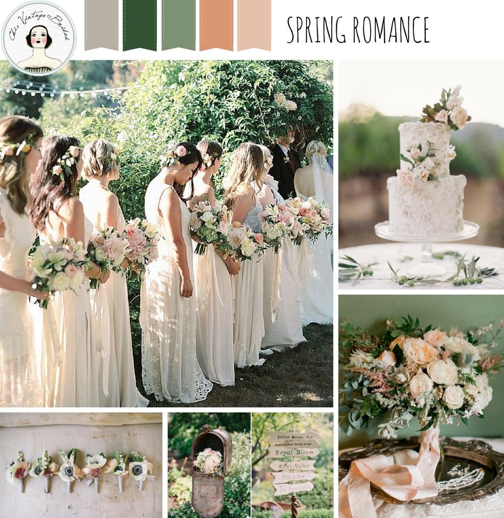 A Romantic Spring Wedding Inspiration Board Chic Vintage