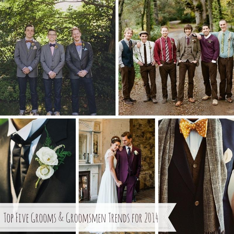 Top Five Grooms & Groomsmen Trends for 2014