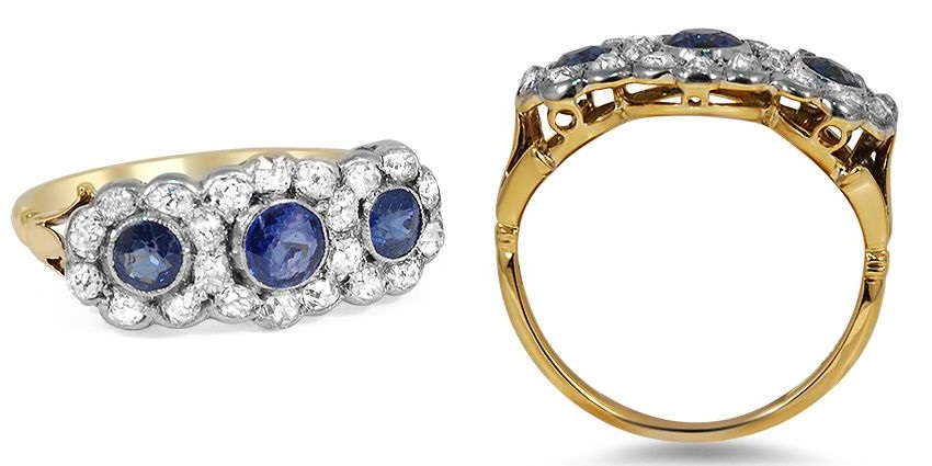 Victorian Trilogy Engagement Ring