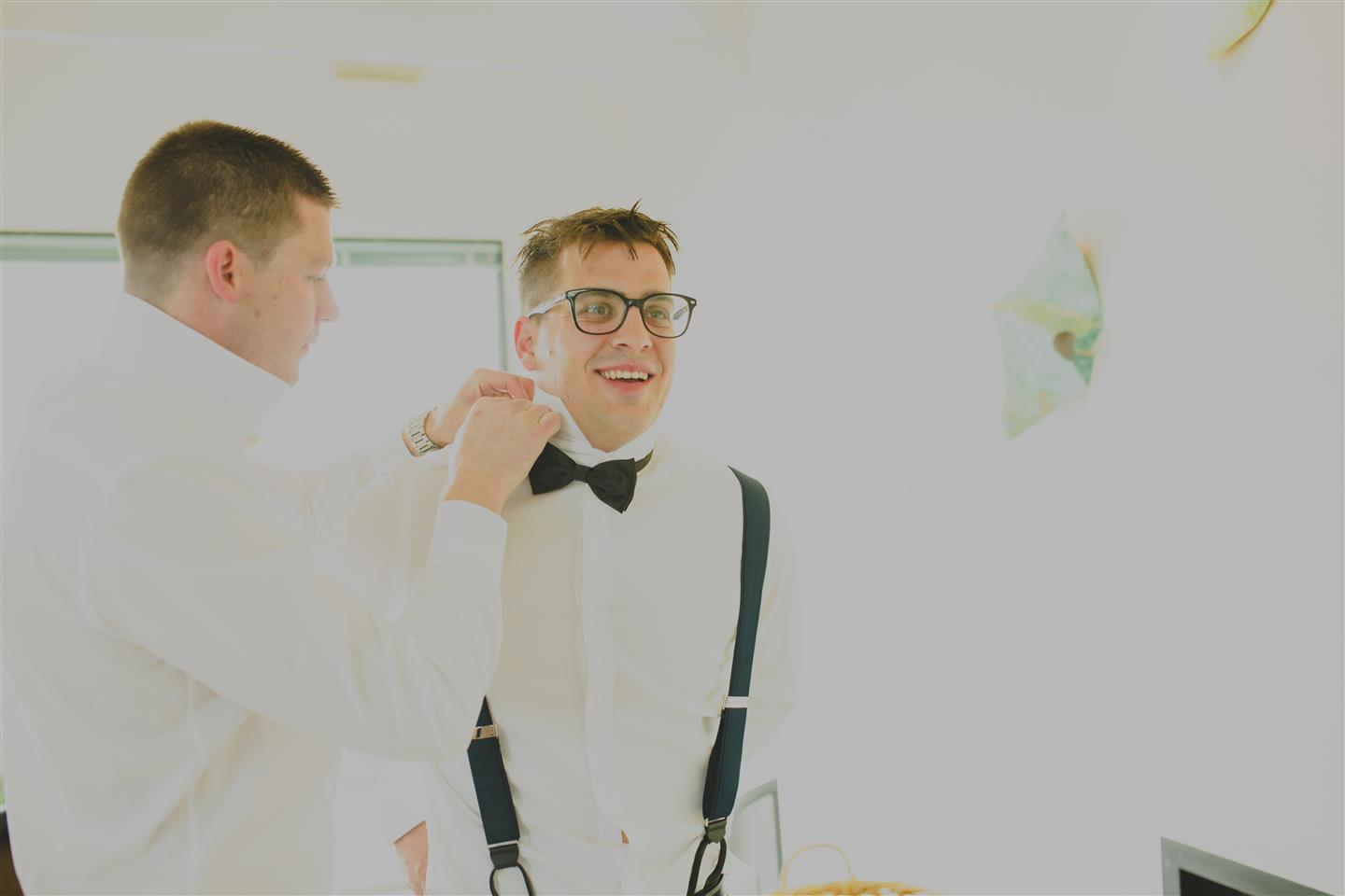 Groom Getting Ready - An Elegant Spring Vintage Wedding
