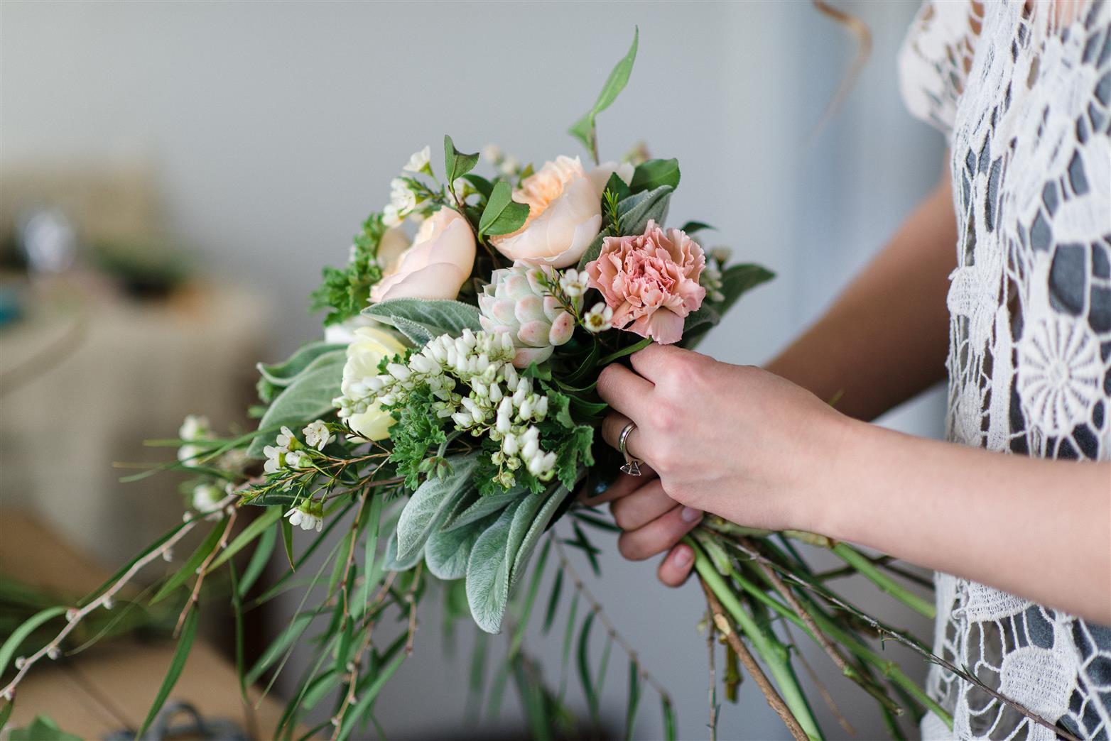 A Country Garden Inspired Bridal Bouquet