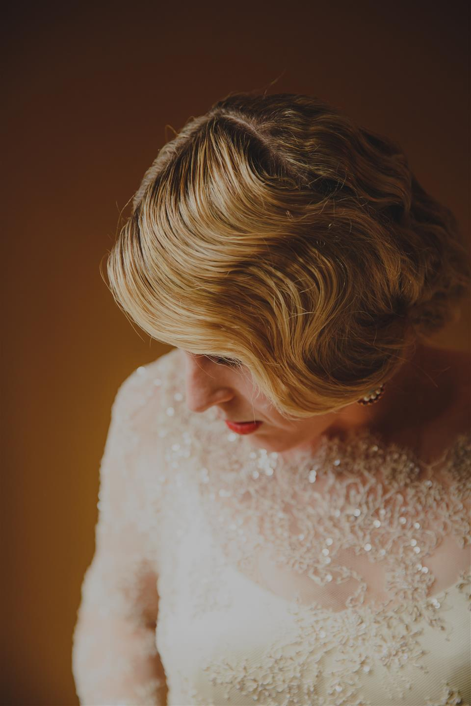 Bride Getting Ready - An Elegant Spring Vintage Wedding