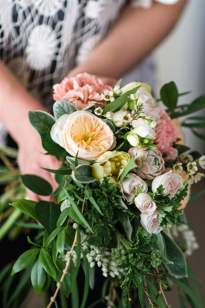 A Country Garden Inspired Bridal Bouquet