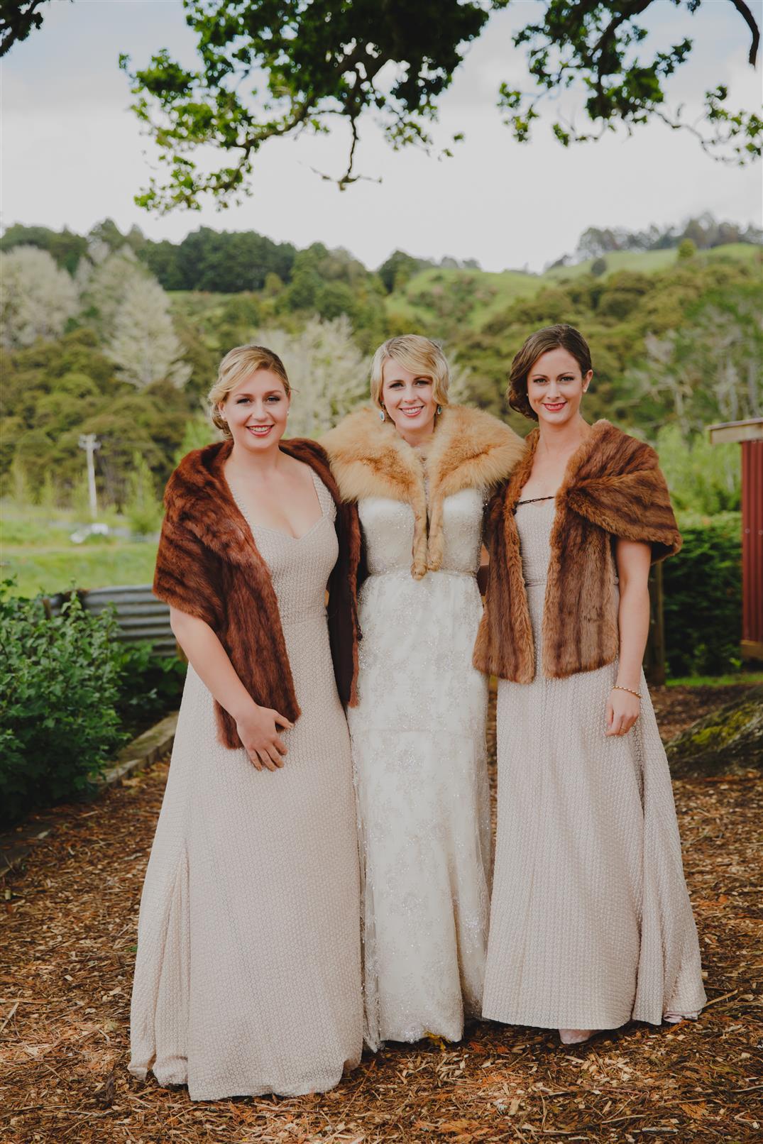 Elegant Vintage Bridesmaids - An Elegant Modern Vintage Spring Wedding