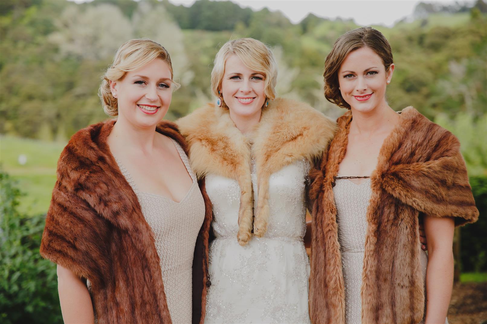 Vintage Bridesmaids - An Elegant Spring Vintage Wedding