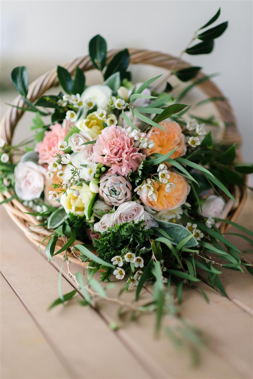 A Country Garden Inspired Wedding Bouquet