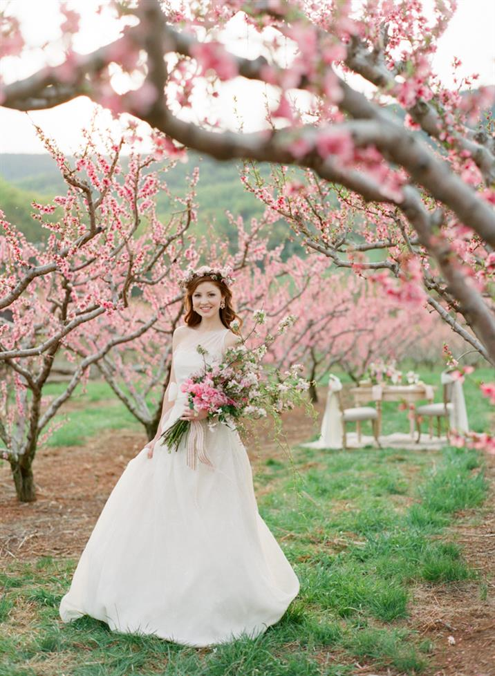 Beautiful Blossom-Filled Spring Wedding Ideas In An Orchard