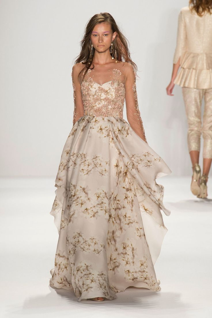 20 Floral Wedding Dresses That Will Take Your Breath Away - Badgley Mischka Spring 2015