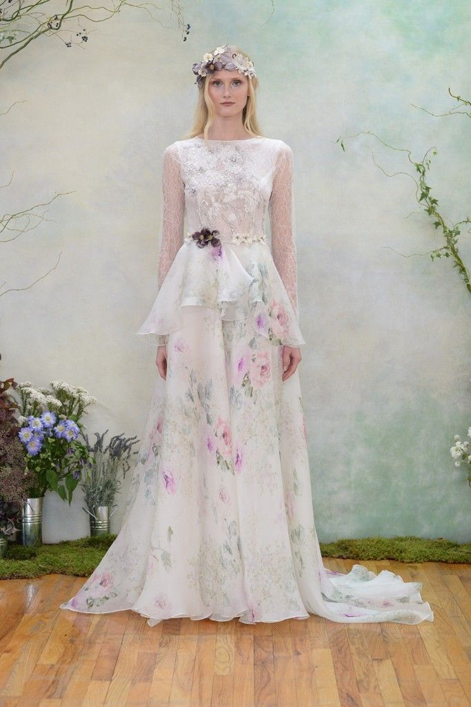 20 Floral Wedding Dresses That Will Take Your Breath Away - Elizabeth Filmore 2015