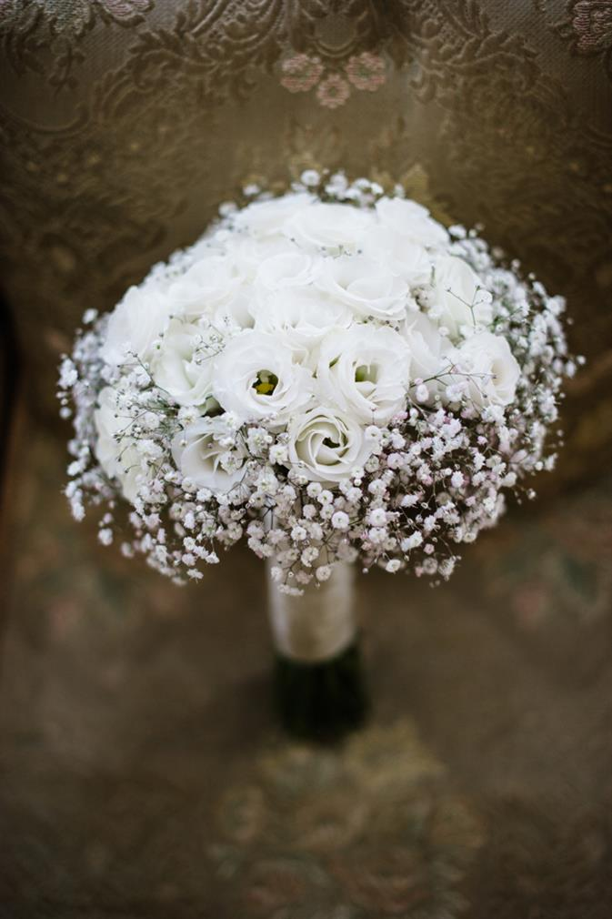 Bridal Bouquet - A Stunning Summer Winery Wedding in White from Meredith Lord Photography