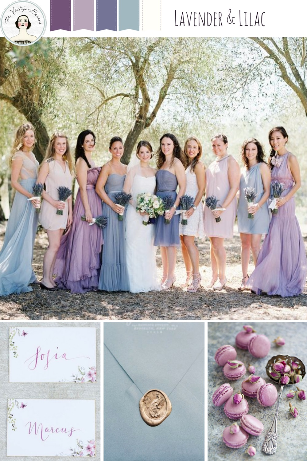 A Romantic Lilac & Lavender Wedding Inspiration Board : Chic Vintage ...