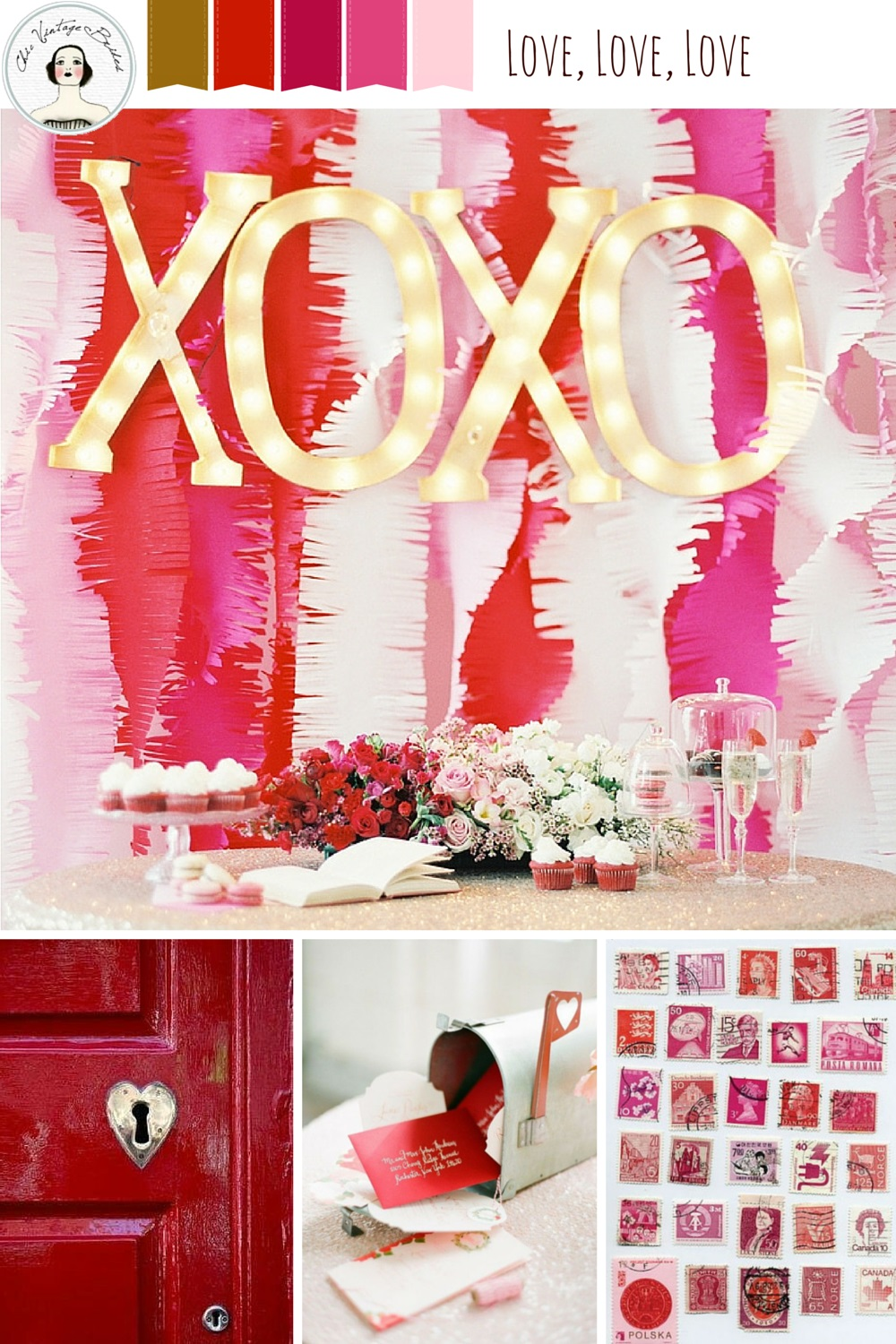 Love, love, love Valentines Mood Board