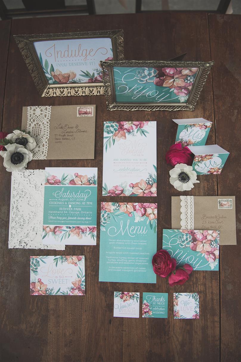Vintage Wedding Stationery - Romantic , Edwardian Inspired Vintage Wedding Ideas
