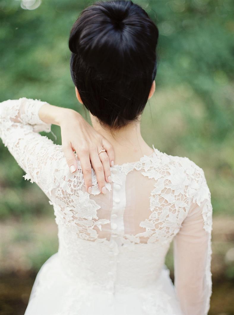 Beautiful Bridal Updo - A Stylish Modern-Vintage Blush & Gold Wedding Inspiration Shoot
