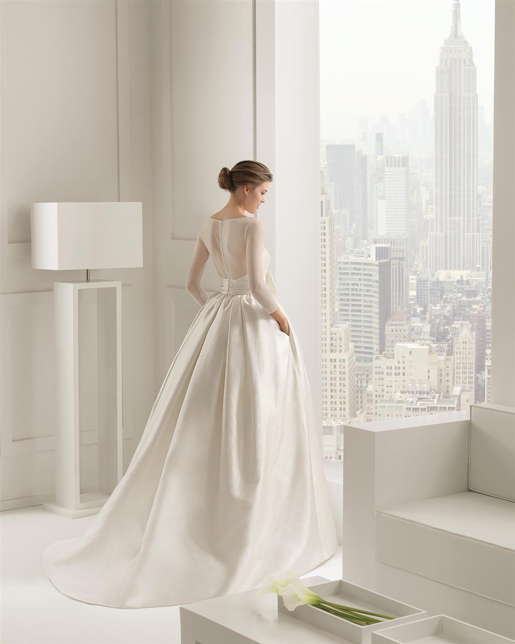 a7edd63ccd Long Sleeve Wedding Dress from Rosa Clara 2015 Collection - Segovia ...