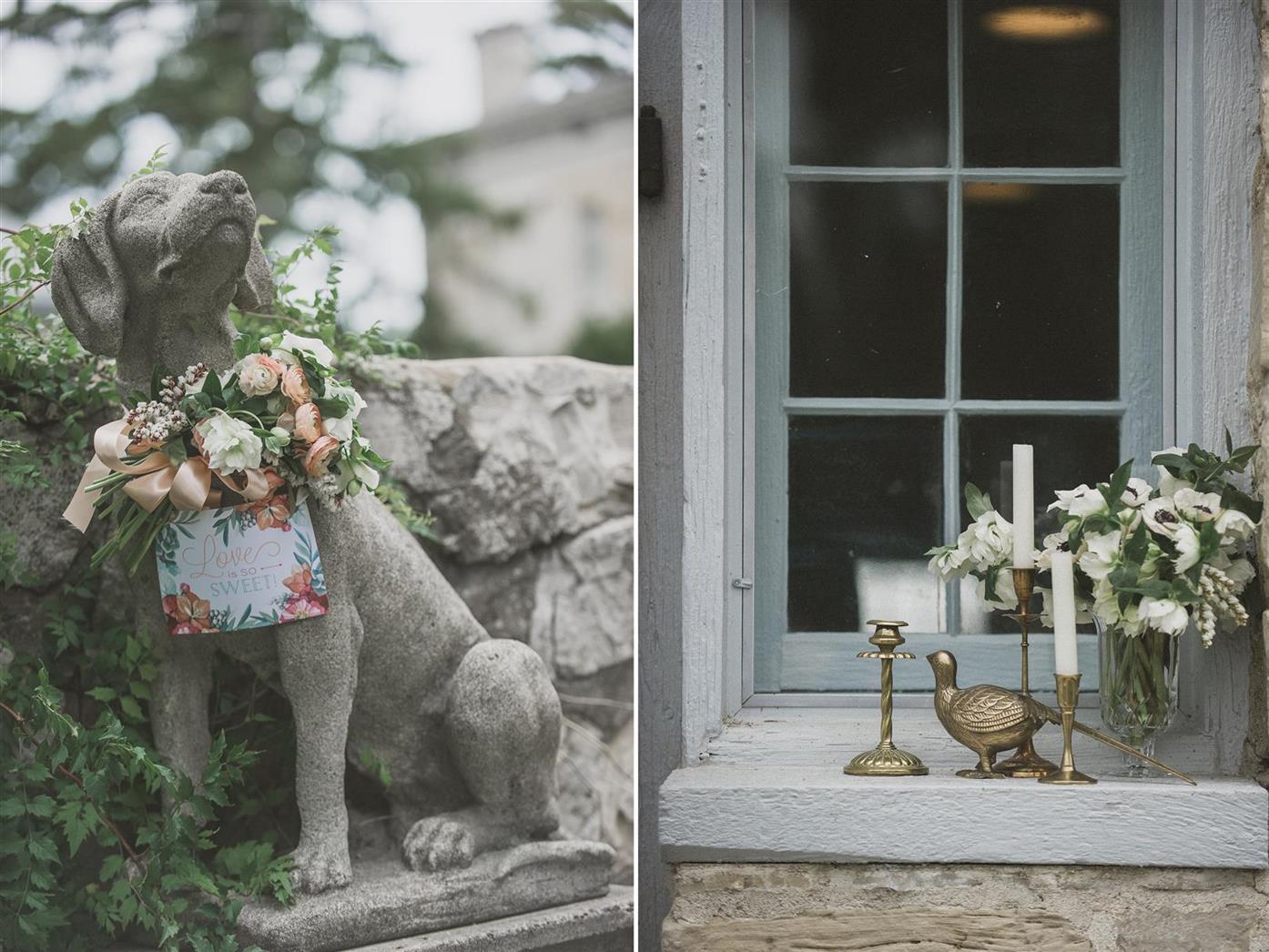 Vintage Wedding Decor - A Romantic Vintage Wedding Inspiration Shoot from Sue Gallo Designs