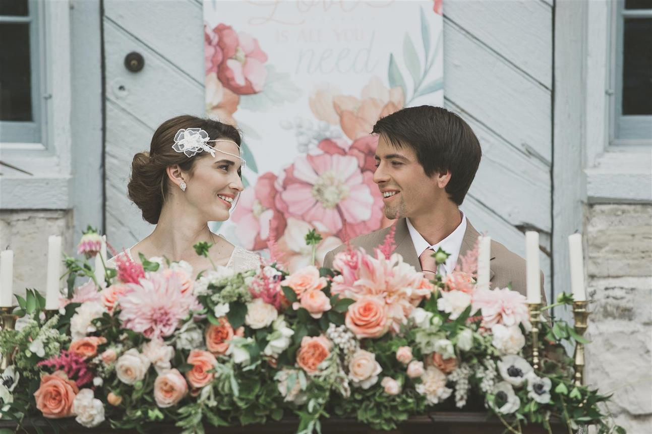 Vintage Bride & Groom - Romantic , Edwardian Inspired Vintage Wedding Ideas