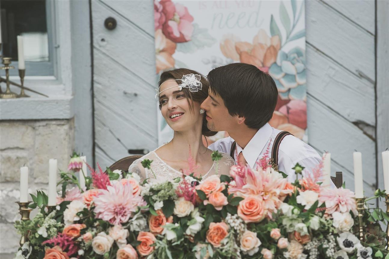 Vintage Bride & Groom - A Romantic Vintage Wedding Inspiration Shoot from Sue Gallo Designs