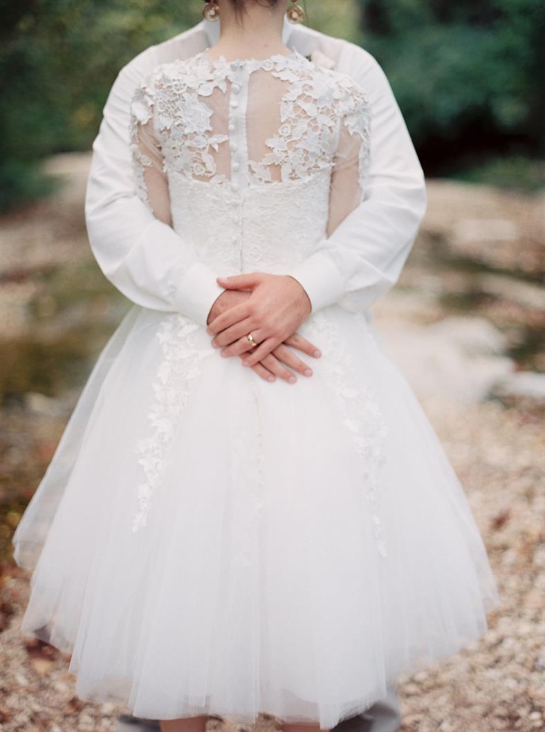 Bride & Groom - A Stylish Modern-Vintage Blush & Gold Wedding Inspiration Shoot