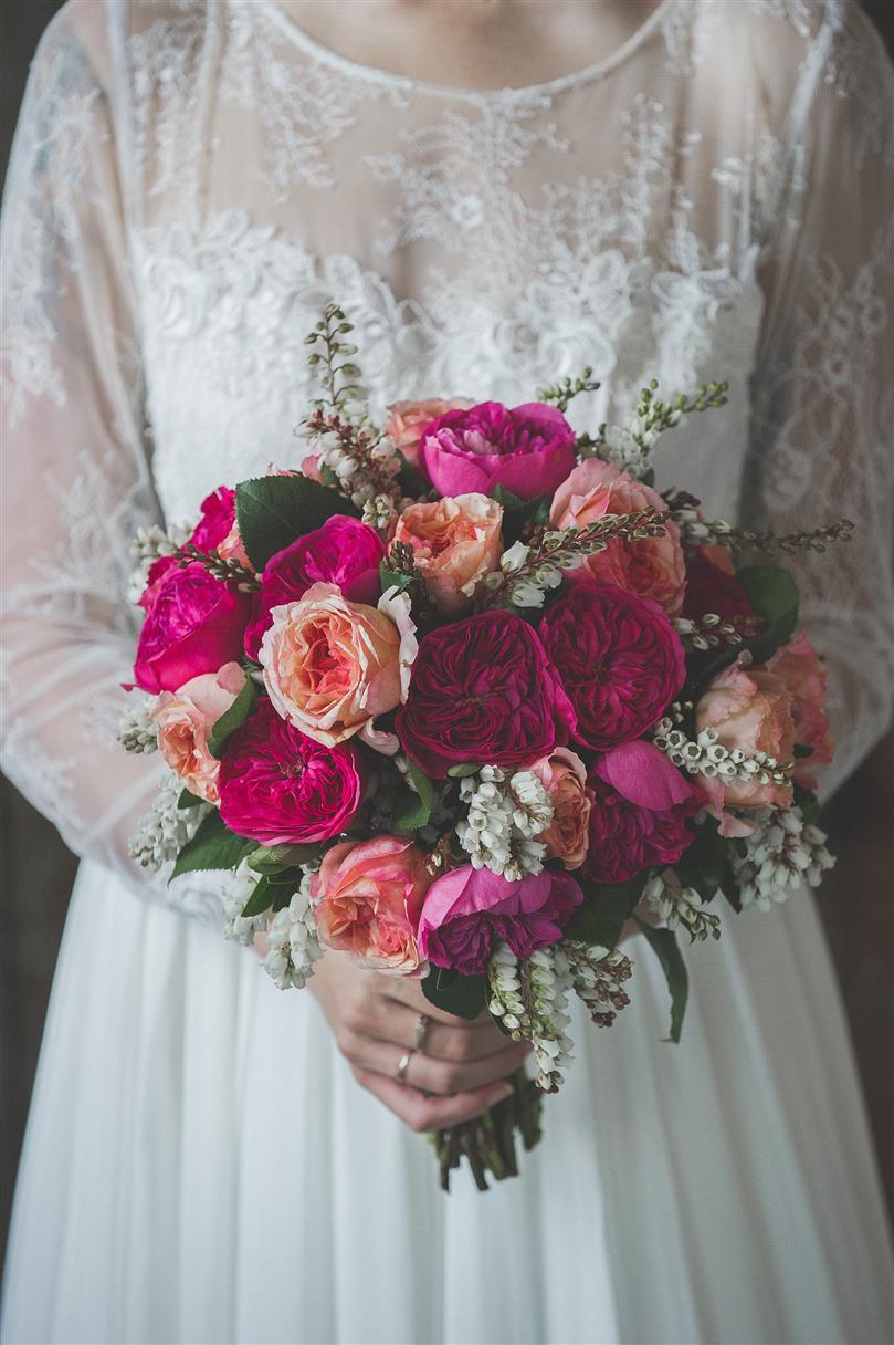 Vintage Bridal Bouquet - A Romantic Vintage Wedding Inspiration Shoot from Sue Gallo Designs