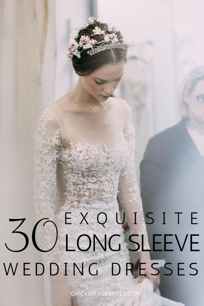 d0d0cca69 30 Exquisite & Elegant Long Sleeved Wedding Dresses : Chic Vintage ...