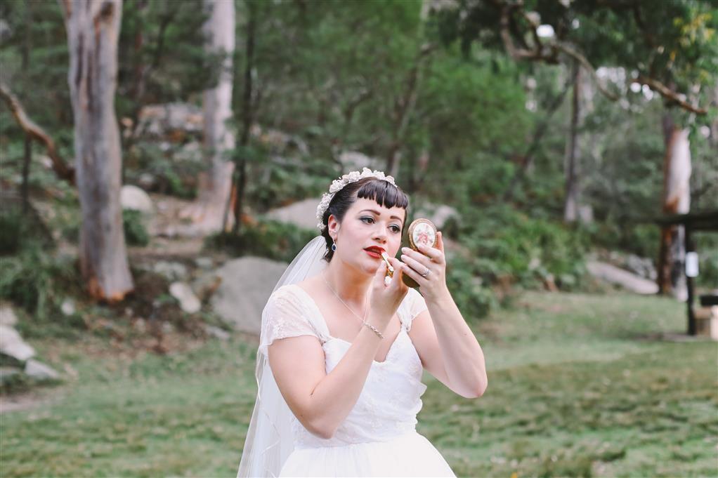 Vintage Bridal Makeup - A 1950s Inspired Woodland Wedding