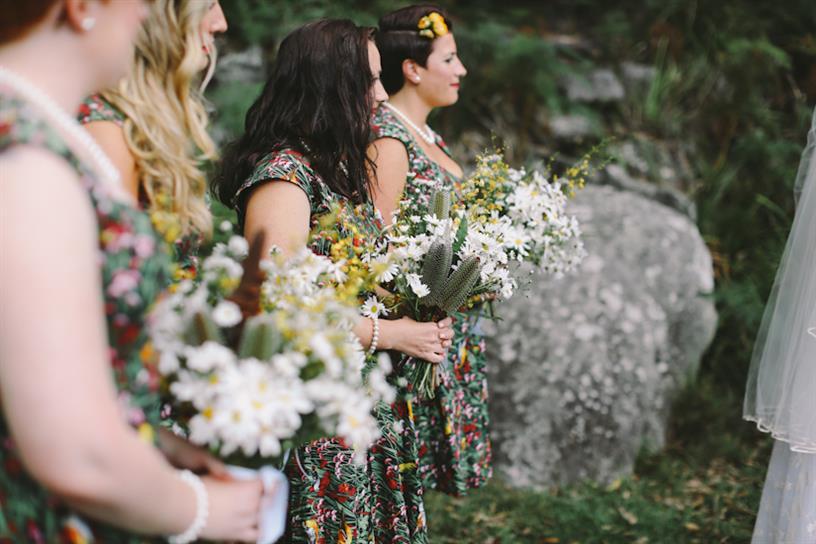 1950 Bridesmaids - A 1950s Inspired Woodland Wedding