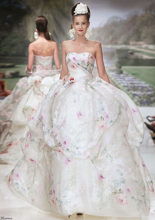 20 Floral Wedding Dresses That Will Take Your Breath Away - Atelier Aimee