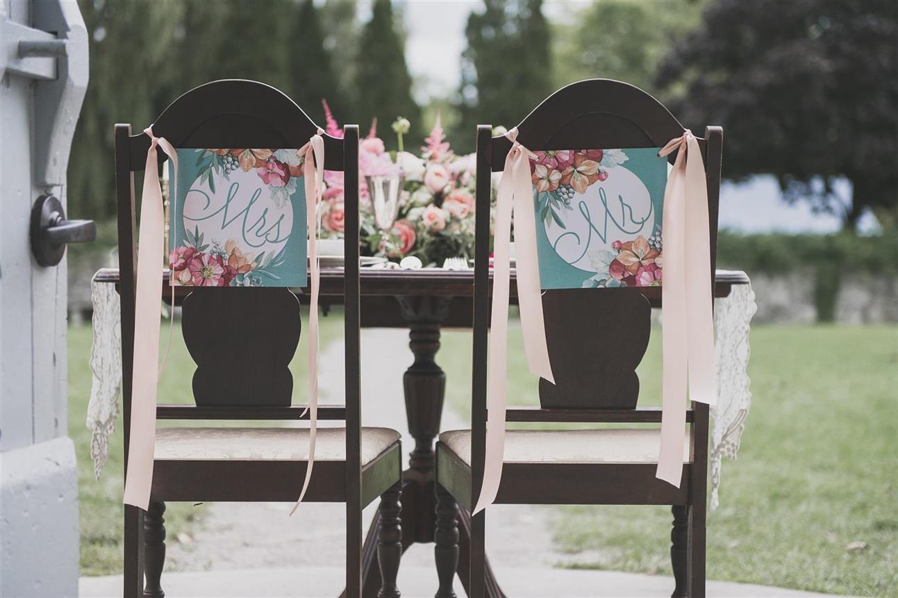 Vintage Wedding Chair Decor - A Romantic Vintage Wedding Inspiration Shoot from Sue Gallo Designs