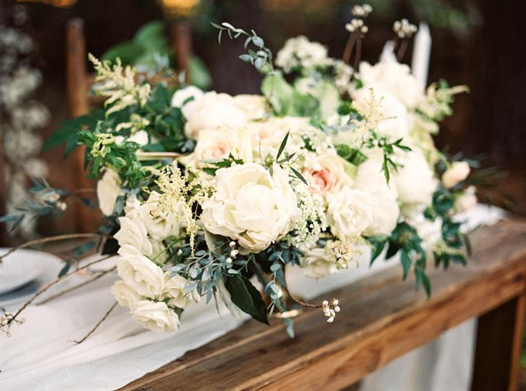 An Elegant Woodland Wedding Inspiration Shoot - Wedding Centrepiece