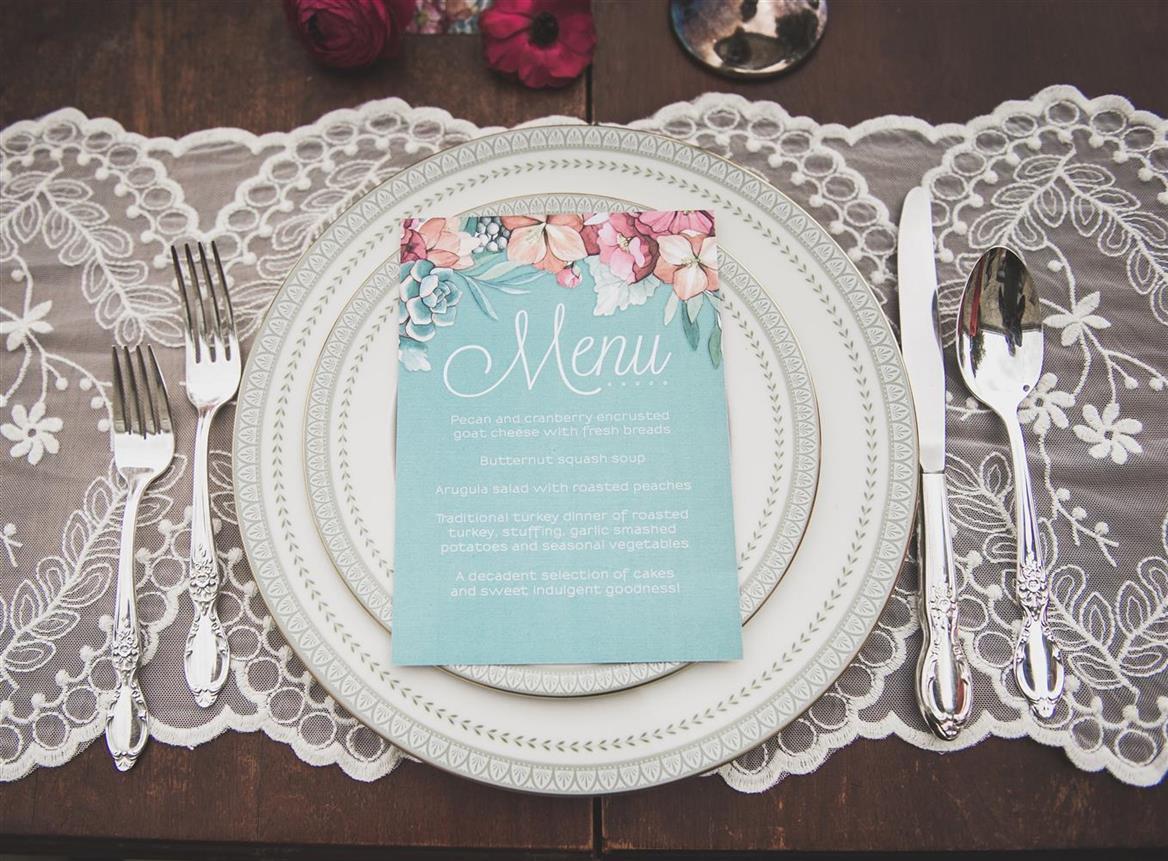 Vintage Wedding Stationery & Place Setting - Romantic , Edwardian Inspired Vintage Wedding Ideas