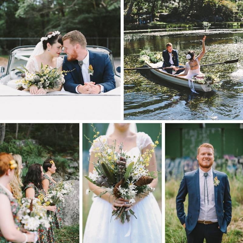 A 1950s Woodland Wedding