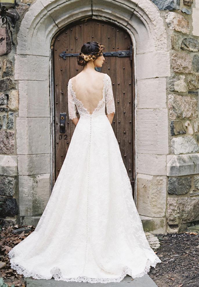 Sareh Nouri 2015 Collection Long Sleeved Wedding Dress - Sara Beth