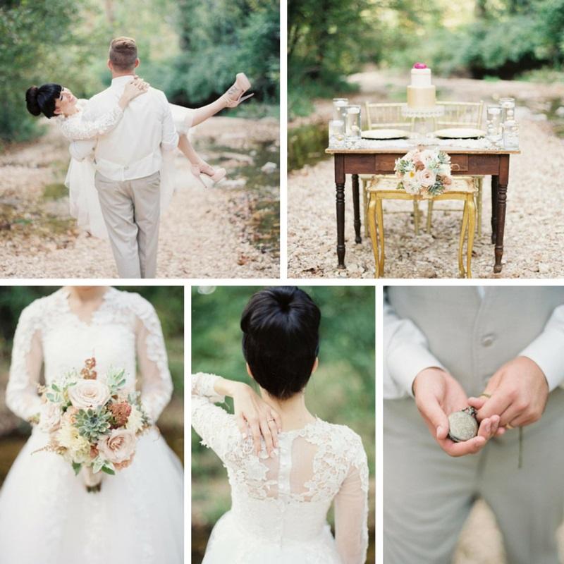 Stylish Modern Vintage Wedding Inspiration In Blush Chic Vintage