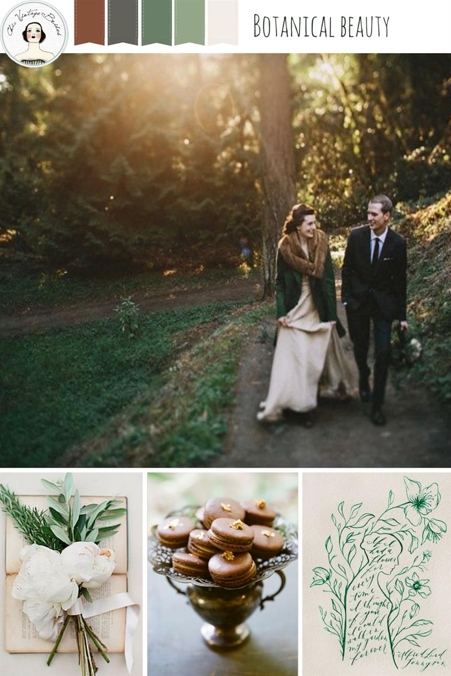 Botanical Beauty Wedding Mood Board
