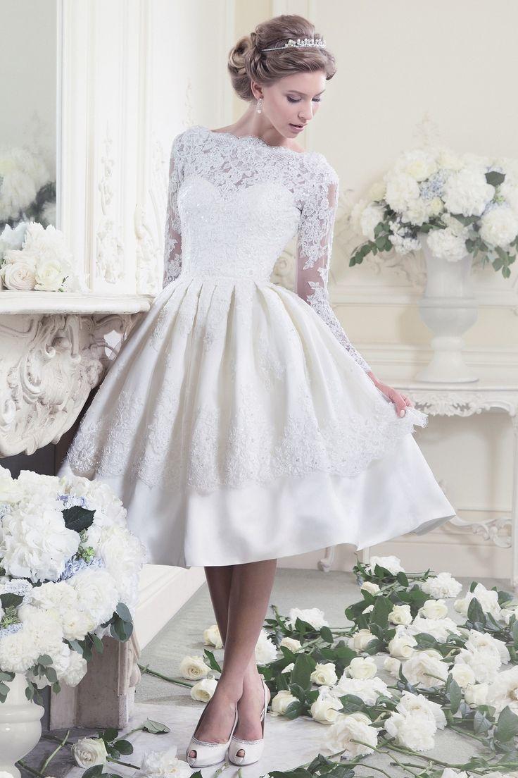 vintage knee length wedding dress | Wedding