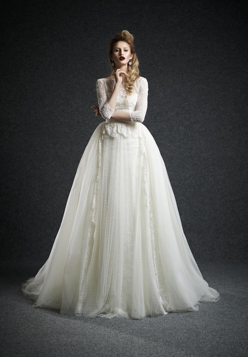 Ersa Atelier Long Sleeve Wedding Dress - Leda