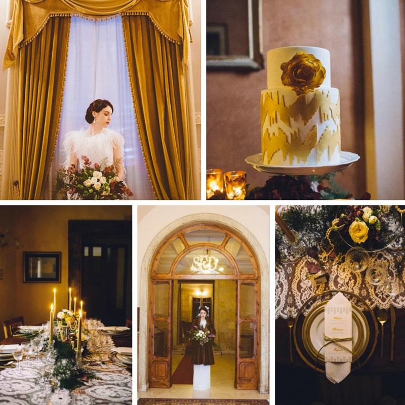 A Beguiling Winter Wedding Inspiration Shoot with Deco Decadence