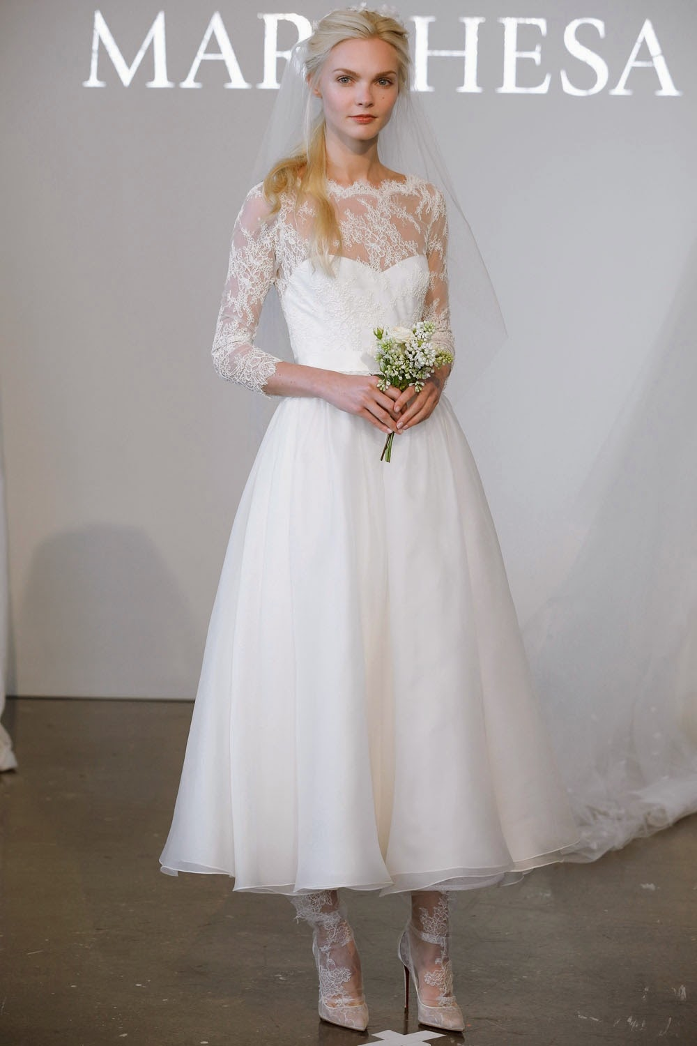 Tea Length Wedding Dress from Marchesa's Spring 2015 Collection