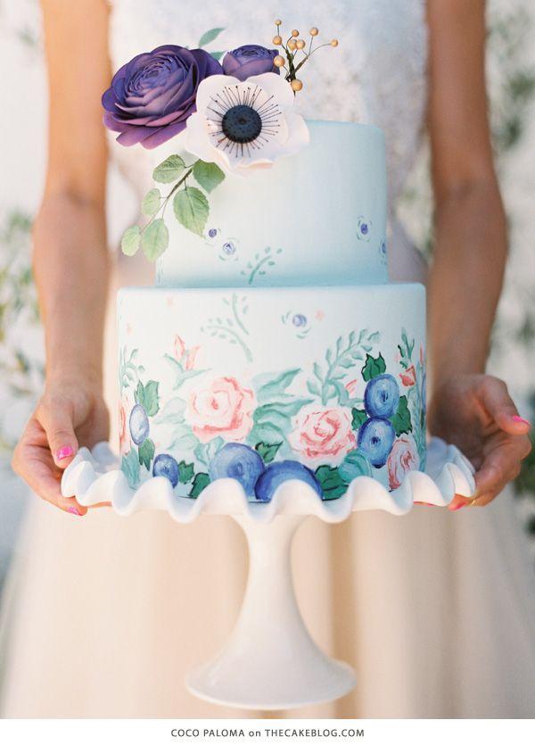 5 Beautiful Spring Wedding Cake Ideas - Painted