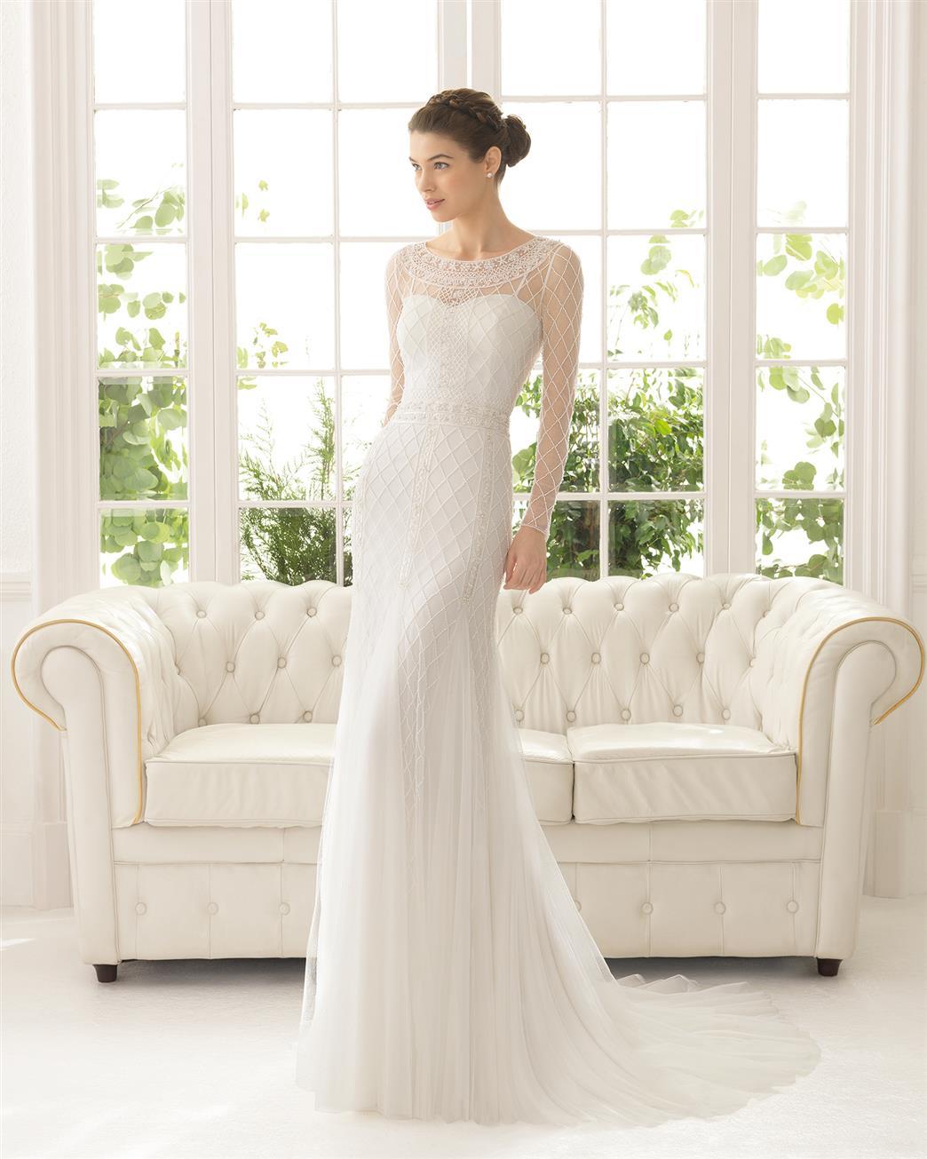 Long Sleeve Wedding Dress by Aire Barceolna ~ Aisha