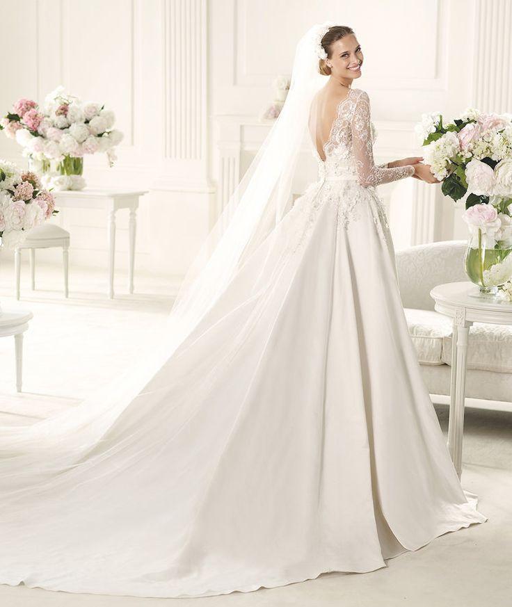 Kate Middleton Inspired Long Sleeve Wedding Dress by Pronovias - Monet