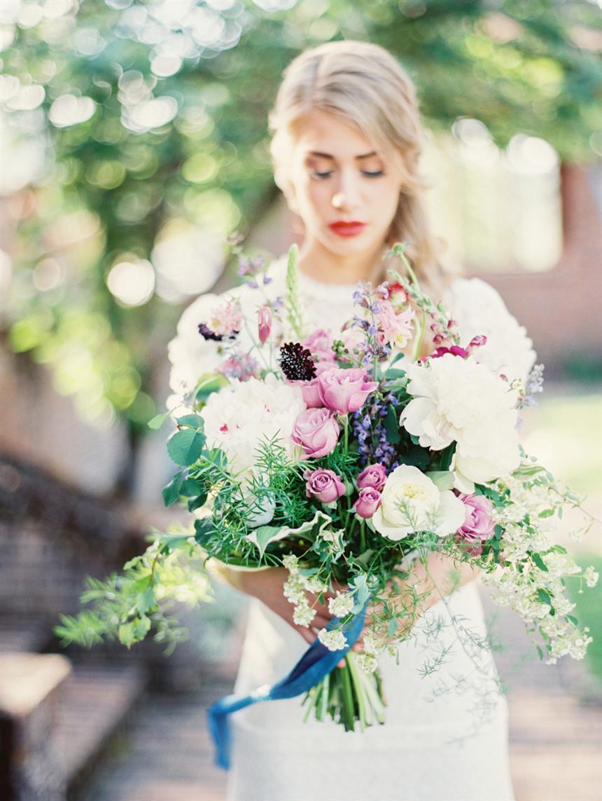 5 Lush Spring Wedding Bouquets - Cottage Garden Bridal Bouquet