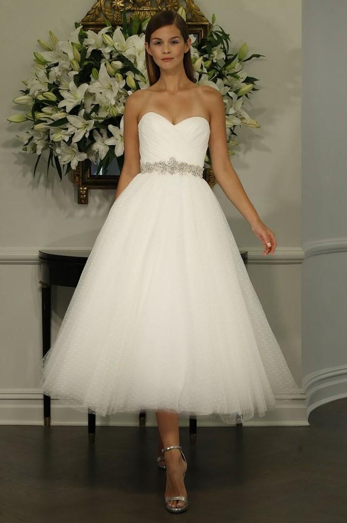 e026684e28f6 25 Utterly Gorgeous Tea Length Wedding Dresses : Chic Vintage Brides