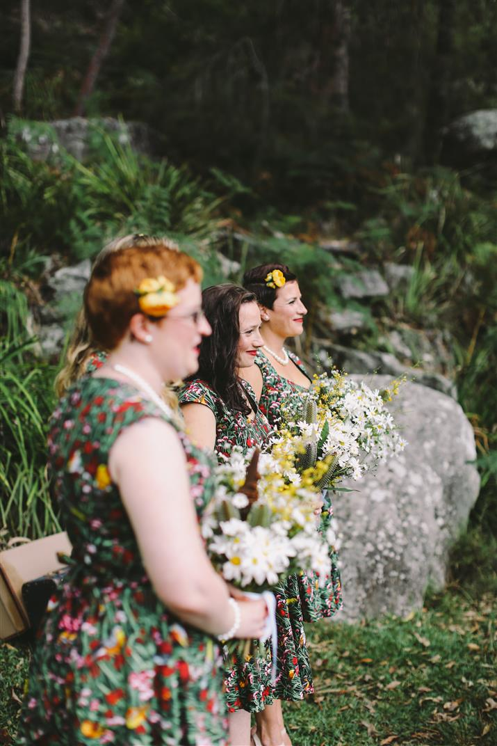 Vintage Bridesmaids - A 1950s Inspired Woodland Wedding