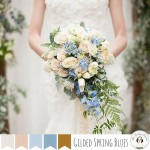 Gilded Spring Blues - Heavenly Wedding Inspiration Board in Shades of Pale Blue & Gold