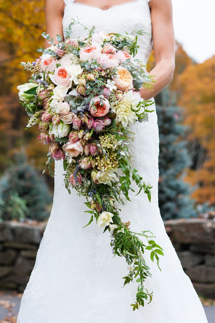 Bouquet Recipe - A Lush Cascading Bridal Bouquet